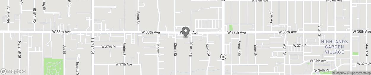 Map of 5400 W 38th Ave in Wheat Ridge