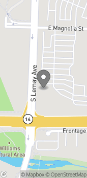 Map of 1281 E Magnolia St in Fort Collins