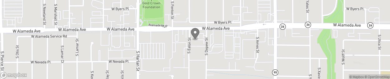 Map of 5690 West Alameda Avenue in Lakewood