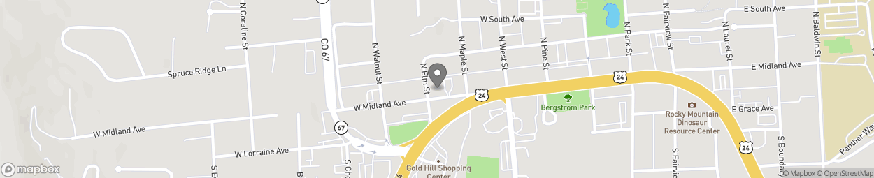 Map of 520 West Midland Avenue in Woodland Park