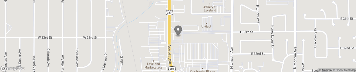 Map of 3200 Garfield Ave in Loveland