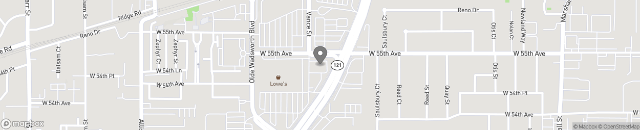 Map of 5465 Wadsworth Bypass in Arvada