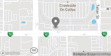 Mapa de 7475 W Colfax Ave en Lakewood