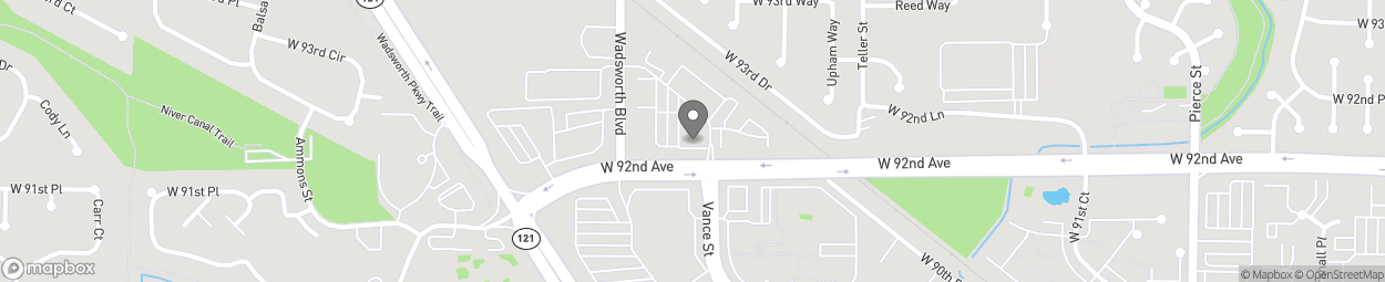 Map of 7485 West 92nd Ave in Westminster