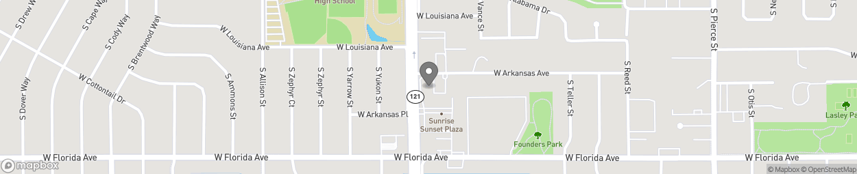 Map of 1410 South Wadsworth Blvd in Lakewood