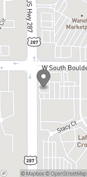 Map of 548 W S Boulder Rd in Lafayette