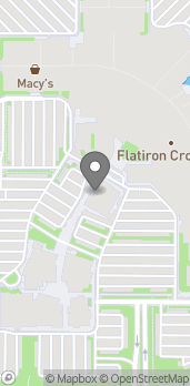 Mapa de 1 West Flatiron Crossing Drive en Broomfield
