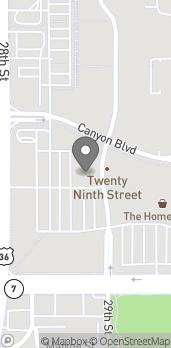 Mapa de 1675 29th St en Boulder