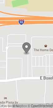 Map of 1103 E Boxelder Rd in Gillette
