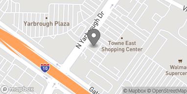 Mapa de 1144 N Yarbrough Dr en El Paso