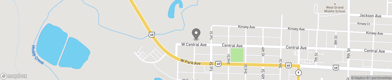 Map of 115 W Central Avenue in Kremmling