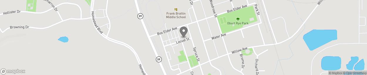 Carte de #1 Locust Street à Colstrip