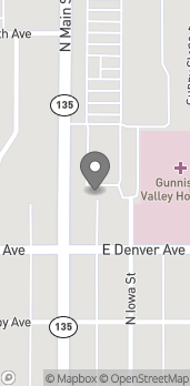 Map of 714 Main Street in Gunnison