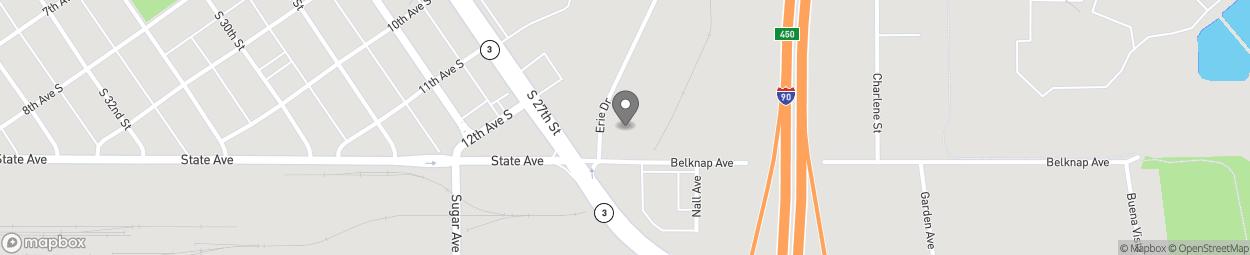 Carte de 2635 Belknap Ave à Billings