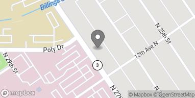 Mapa de 1219 N 27th Street en Billings