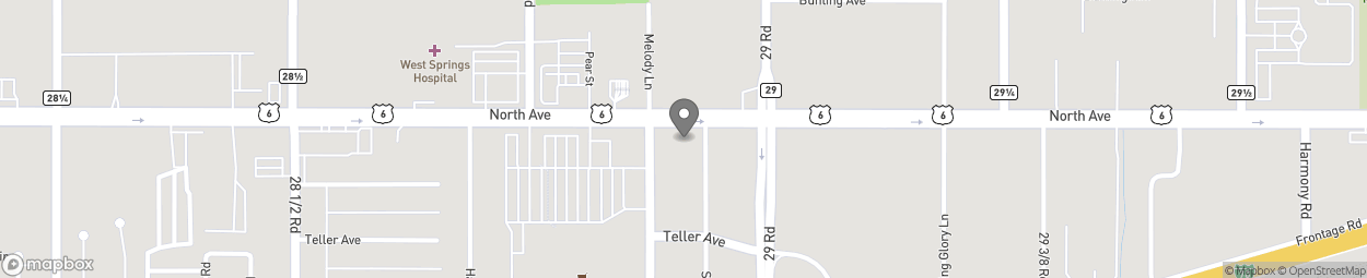 Map of 2893 North Ave in Grand Junction