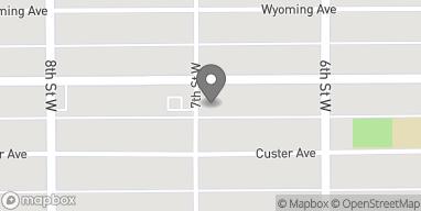 Mapa de 644 Broadwater Avenue en Billings