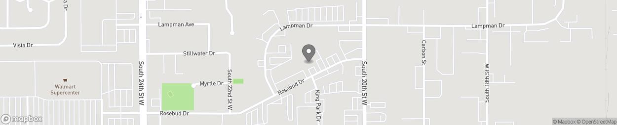 Carte de 2091 Rosebud Drive à Billings