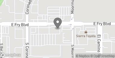 Mapa de 2290 E Fry Blvd en Sierra Vista