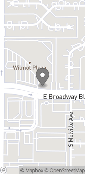 Map of 6351 E Broadway Blvd in Tucson