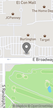 Map of 3587 E Broadway in Tucson