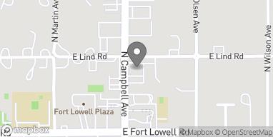 Mapa de 3286 N Campbell en Tucson