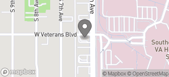 Map of 3602 South 6th Avenue in Tucson