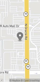 Map of 4545 N Oracle Rd in Tucson