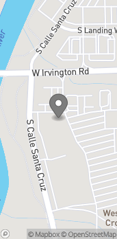 Map of 1217 W Irvington Rd in Tucson