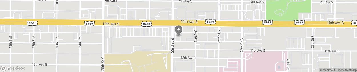 Carte de 2305/2307 11th Avenue South à Great Falls