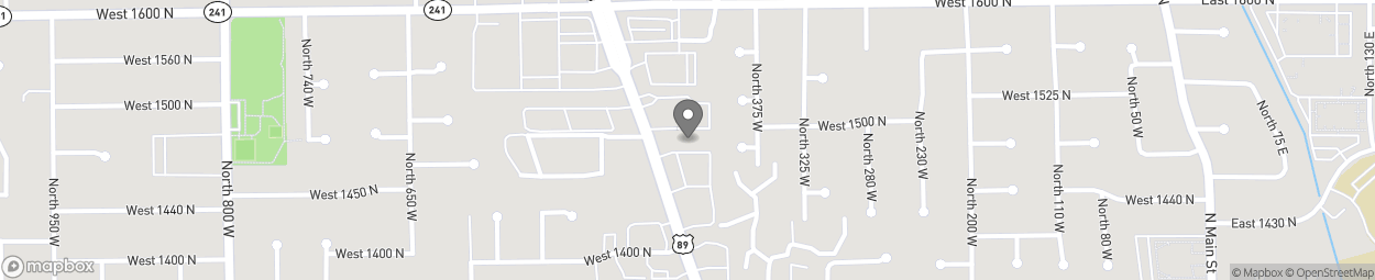 Map of 1484 North State St in Orem