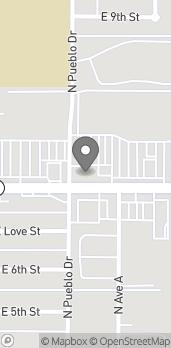 Mapa de 1202 E. Florence Blvd en Casa Grande