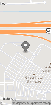 Map of 1728 S Greenfield Rd in Mesa