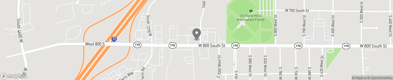 Map of 1062 West 800 South in Payson