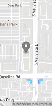 Map of 1902 S Val Vista Dr in Mesa