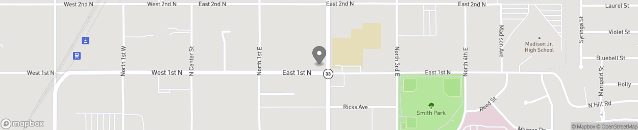 Map of 103 No 2nd St East in Rexburg