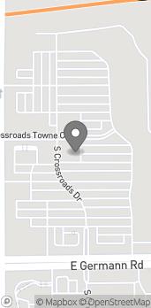 Map of 3871 S Gilbert Rd in Gilbert