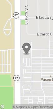 Mapa de 3731 S Arizona Ave en Chandler