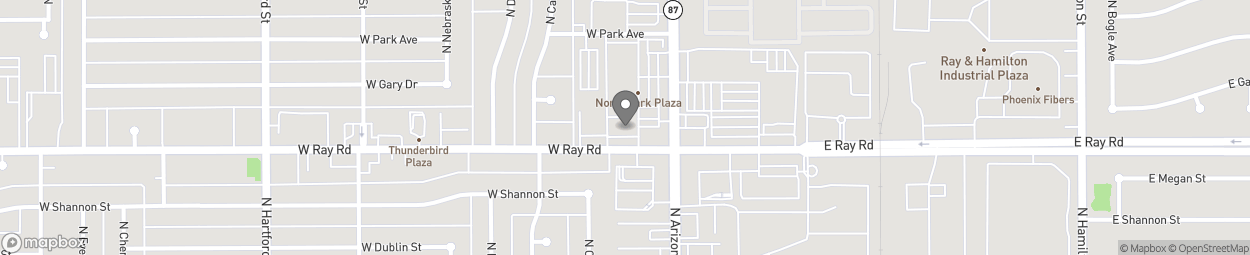 Map of 1006 North Arizona Avenue in Chandler