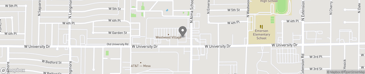 Map of 1202 West University Dr in Mesa