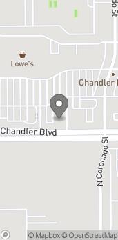 Map of 2780 W Chandler Blvd in Chandler