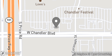Map of 2780 W Chandler Blvd in Chandler