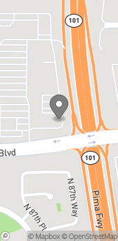 Map of 8776 E Shea Blvd in Scottsdale