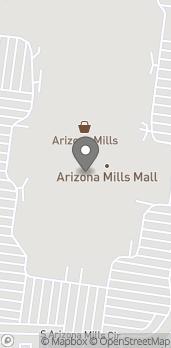 Map of 5000 S Arizona Mills Cir in Tempe