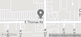 Map of 3150 E. Thomas Rd in Phoenix