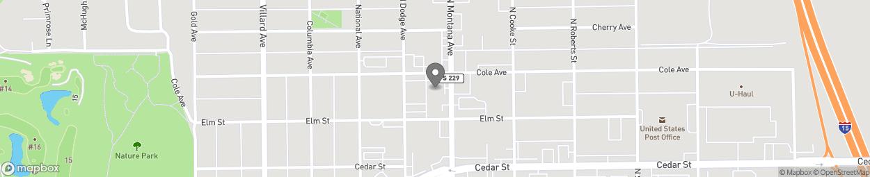 Carte de 2328 North Montana Avenue à Helena