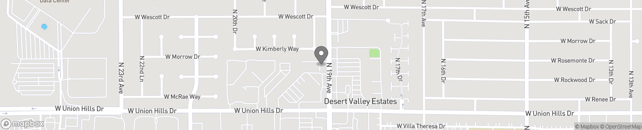 Map of 18630 N 19th Ave in Phoenix