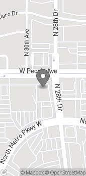 Mapa de 10460 N. 28th Drive en Phoenix