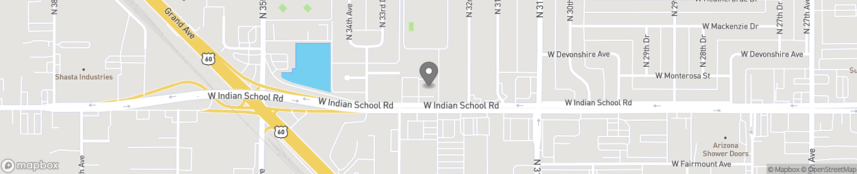 Map of 3246 West Indian School Rd in Phoenix