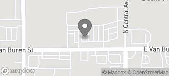 Map of 13554 W. Van Buren Street in Goodyear